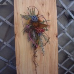 ㉗蓮とバンクシャーのナチュラル飾り 縦53㎝ 横20㎝ 3200円